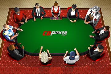 Picture of the CDPoker Table - Click here to play!